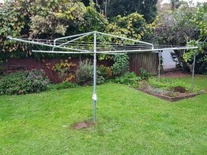 Clothesline in an Auckland garden