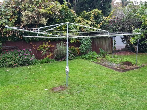 Clothesline in an Auckland garden