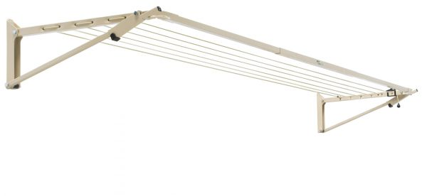 Austral Slenderline fold down washing line in Classic Cream colour