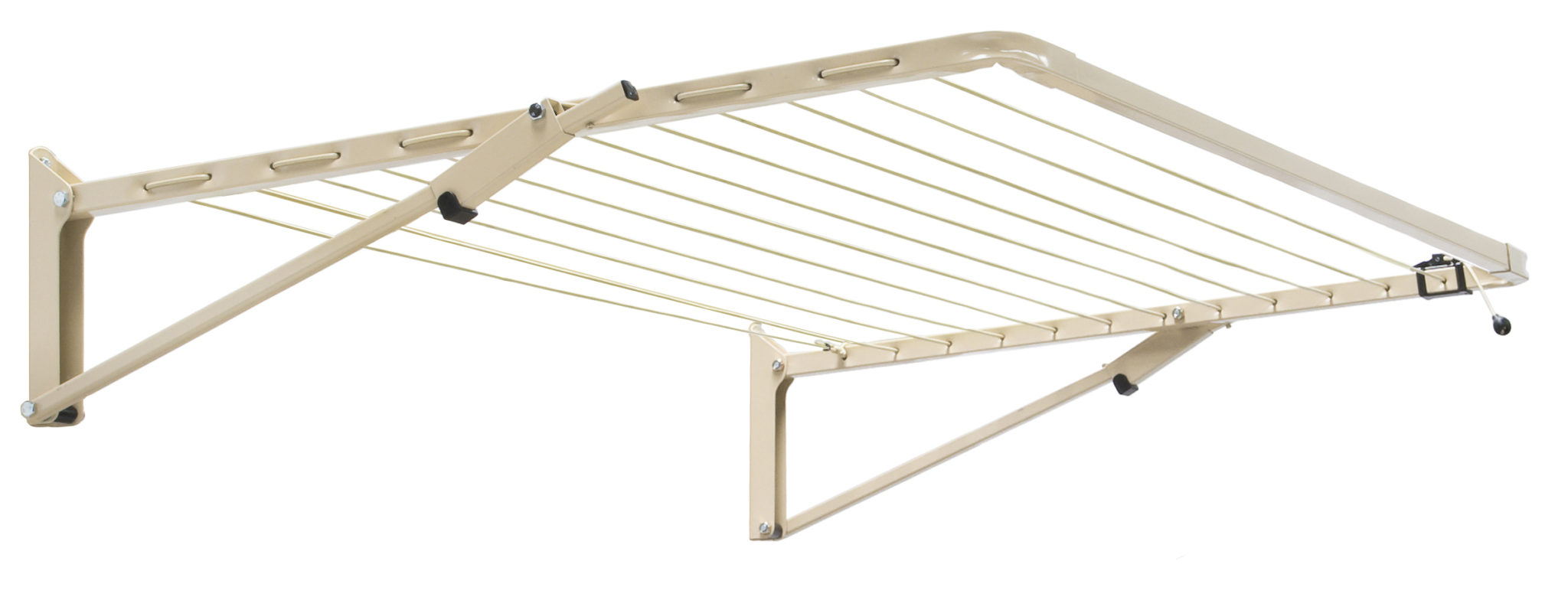 Austral Unit fold down clothesline in Classic Cream colour