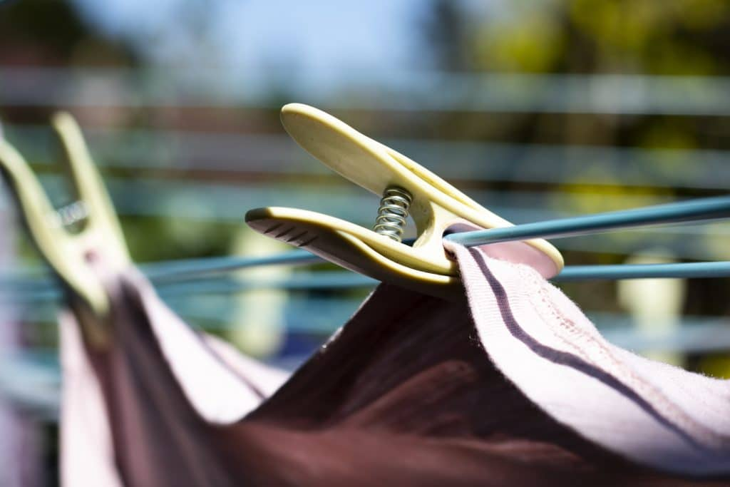drying your clothes outdoors with quality pegs
